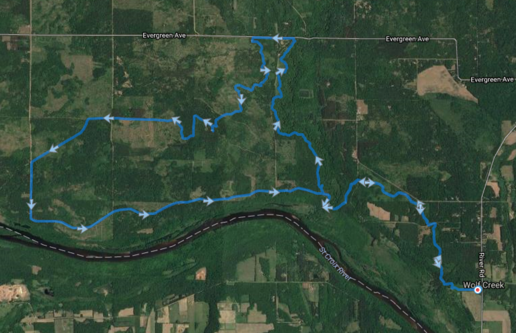 2016 Woolly Global Fat Bike Day Route