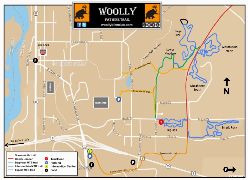 Woollly Fat Bike Map